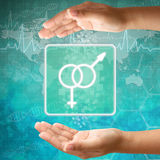 Male and female in hand Stock Image