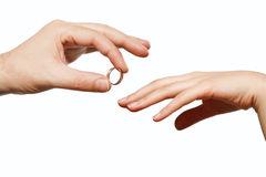 Male and female hand Royalty Free Stock Image
