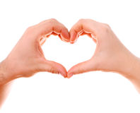 Male and female heart hands Royalty Free Stock Photo