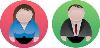 Male and Female icon. Vector icon of male  and female Royalty Free Stock Image