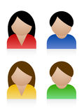 Male female icons Royalty Free Stock Image