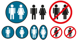 Male and female icons Stock Photo