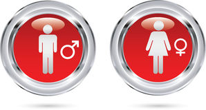 Male female icons Stock Images