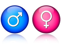 Male female icons Royalty Free Stock Photography