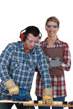 Male and female joiners Royalty Free Stock Photography