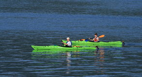 Male and Female Kayakers Royalty Free Stock Image