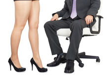 Male and female legs Royalty Free Stock Image