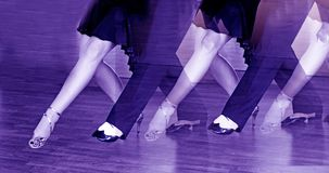 Male and female legs dancing latin rhythms and swing royalty free stock photo