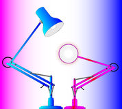 Male and Female Lighting Royalty Free Stock Photo