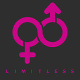 Male and female Limitless symbol Stock Images