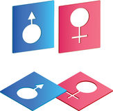 Male female logos Royalty Free Stock Photography