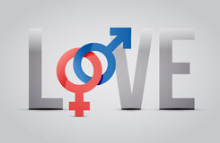 Male and female love concept illustration design Stock Image