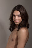 Male female man woman transgender Transsexual portrait Stock Images