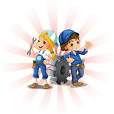 A male and female mechanic Royalty Free Stock Photo