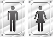 Male and female metal signs Stock Photo