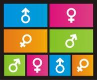 Male - female metro style icons stock illustration