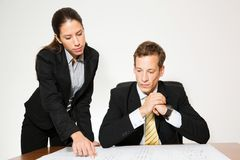 Male and female model business dressed Stock Image