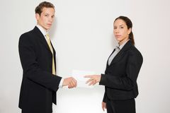 Male and female model business dressed Stock Photos