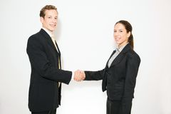 Male and female model business dressed Royalty Free Stock Photography