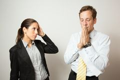 Male and female model business dressed Stock Photo