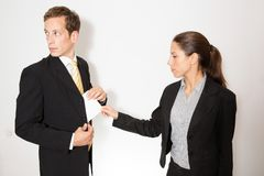 Male and female model business dressed Stock Images