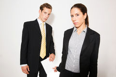 Male and female model business dressed Royalty Free Stock Images