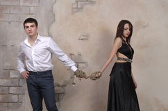 Male and female model in a studio Stock Photos