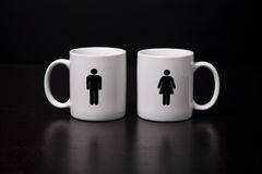 Male and Female Mug Stock Images