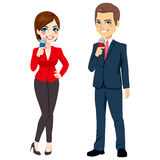 Male Female News Reporter Royalty Free Stock Images