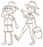 Male and female park rangers Royalty Free Stock Photos