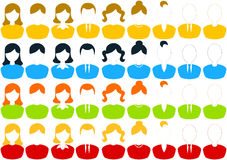 Male and female people icon set Royalty Free Stock Image