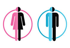 Male And Female. Pink and blue male and female figures illustration Stock Photos
