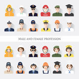 Male and female profession Royalty Free Stock Photo