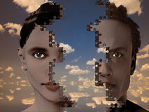 Male-female puzzle Royalty Free Stock Photo