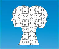 Male and female puzzle. Interlocking pieces (separate in Royalty Free Stock Photography