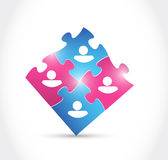Male and female puzzle pieces illustration Royalty Free Stock Photo