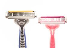 Male and female razor Royalty Free Stock Image