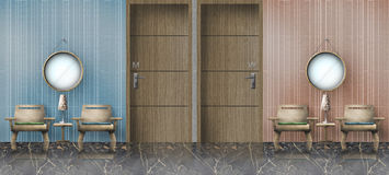 Male and Female restroom vector illustration