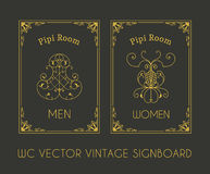 Male and Female Restroom Signboard Stock Photos