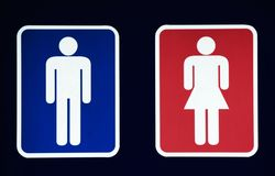 Male and Female Restroom Symbol. Or bathroom stock image