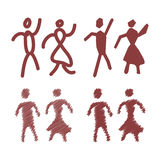 Male and Female Restroom Symbol Icon. Vector Royalty Free Stock Photos