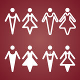 Male and Female Restroom Symbol Icon. Vector Stock Photo
