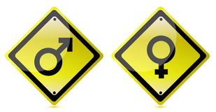 Male and female road sign Royalty Free Stock Photo
