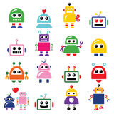 Male and female robot, Artificial Intelligence (AI) icons set Stock Image
