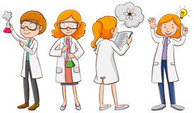 Male and female scientists Royalty Free Stock Images