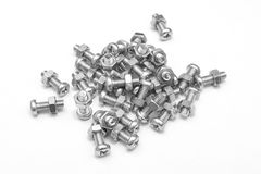 Male and female screws (Gray scale) Royalty Free Stock Photography