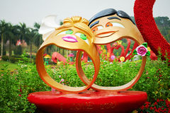 Male and female sculpture. The photo taken in Yuntai Park Guangzhou city Guangdong provice,China Stock Images