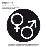 Male And Female Sex Icon - Vector Illustration - Isolated On White Stock Photography