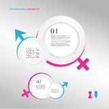Male and female sex symbol. Illustration of male and female sex symbol Royalty Free Stock Images