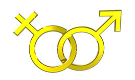 Male and female sex symbols Royalty Free Stock Images